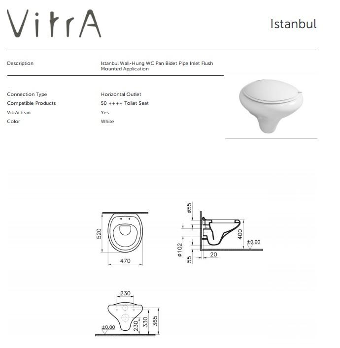 vitraclean istanbul wandcloset met bidet wc met bidet toilet met bidet. Black Bedroom Furniture Sets. Home Design Ideas